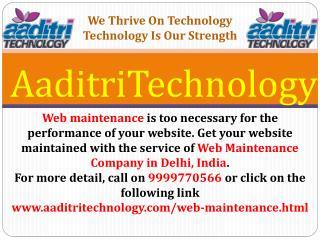 Web Maintenance Company in Delhi, India