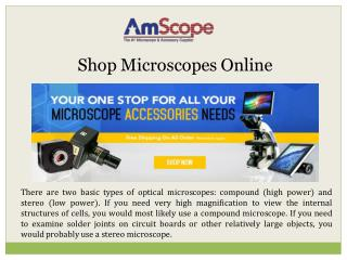 Shop Microscopes Online