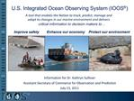 U.S. Integrated Ocean Observing System IOOS