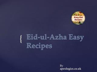 Eid-ul-Azha Easy Urdu Recipes