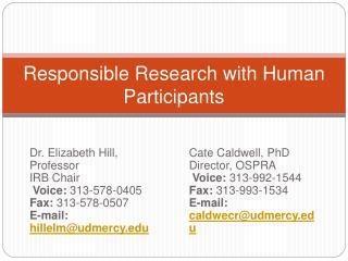 Responsible Research with Human Participants