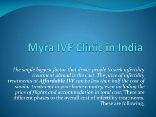 Myra IVF Clinic in India