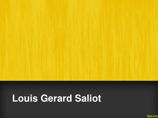 Louis Gerard Saliot | CEO of EAM Group Gerard Sailot