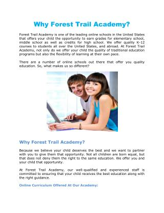 Why Forest Trail Academy