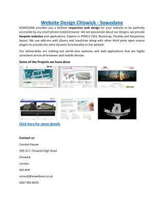 Website Design Chiswick - Sowedane