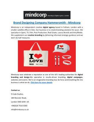 Brand Designing Company Hammersmith - Mindcorp