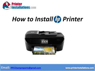 HP Printer Installation Support