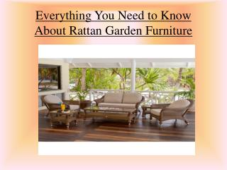 Everything You Need to Know About Rattan Garden Furniture