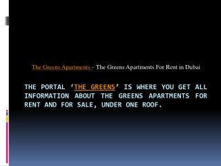 The Greens Apartments for Rent - thegreensdubai.com