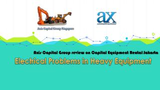 Electrical Problems in Heavy Equipment