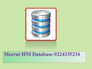 Meerut HNI Database-9224335234