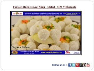 Famous Online Sweet Shop in Malad - MM Mithaiwala