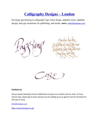 Calligraphy Designs-London