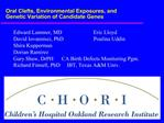 Oral Clefts, Environmental Exposures, and  Genetic Variation of Candidate Genes