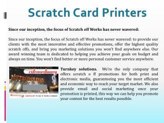Scratch Card Printers