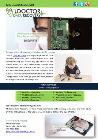 Doctors Data Recovery Services in Brisbane