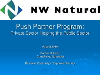 Push Partner Program: Private Sector Helping the Public Sector