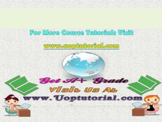 DBM 384  UOP Course Tutorial/Uoptutorial