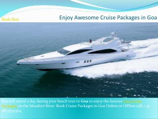 Enjoy Awesome Cruise Packages in Goa