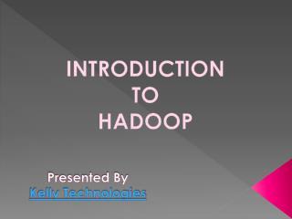 Hadoop Training in Hyderabad