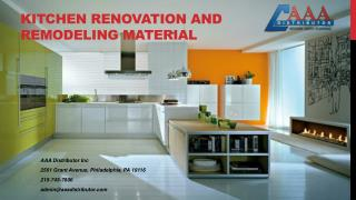 Kitchen Renovation and Remodeling Material