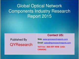 Global Optical Network Components Industry 2015 Market Analysis, Shares, Insights, Study, Forecasts, Applications, Devel