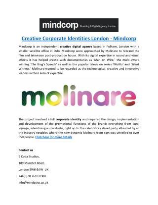Creative Corporate Identities London - Mindcorp