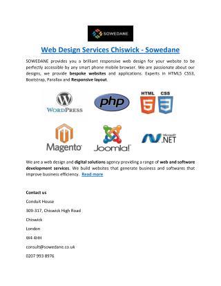 Web Design Services Chiswick - Sowedane