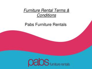 Furniture Rental Terms and Conditions