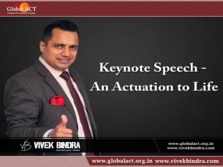 Keynote Speech - An Actuation to Life