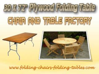 30 x 72 Plywood Folding Table - Folding Chairs Tables Larry Hoffman