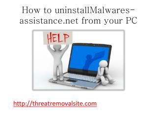How to Uninstall Malwares-assistance.net from PC