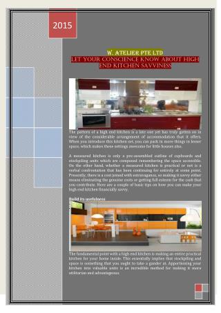 Let Your Conscience Know About High End Kitchen Savviness