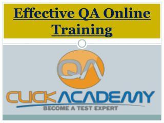 Effective QA Online Training