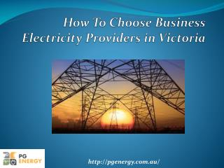 Business Electricity Providers Victoria