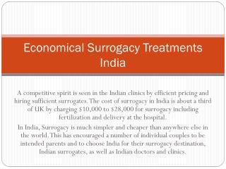 Economical Surrogacy Treatments India