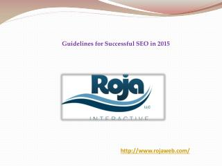 Guidelines for Successful SEO in 2015