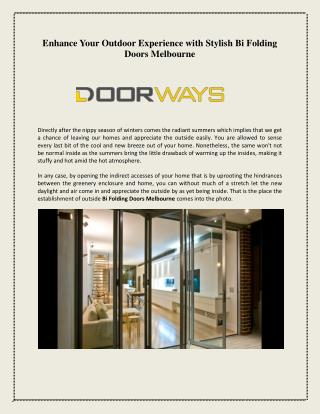 Bi Fold Doors Melbourne