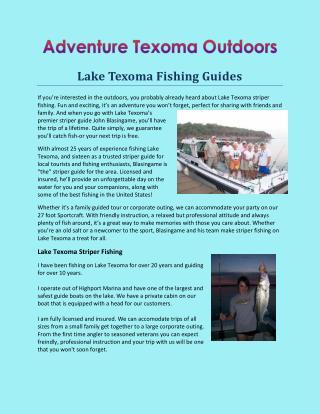 Lake Texoma Striper Guide