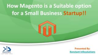 How Magento is a Suitable option for a Small Business Startup!!