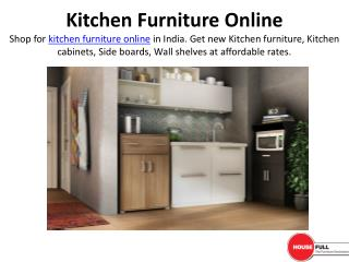 Buy Kitchen Furniture Online in India at Housefull.co.in