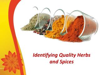 Different Types of Herbs and Spices