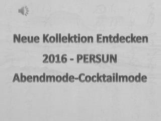 Neue Abendkleid-Cocktailkleid Kollektion Online Kaufen-PERSUN