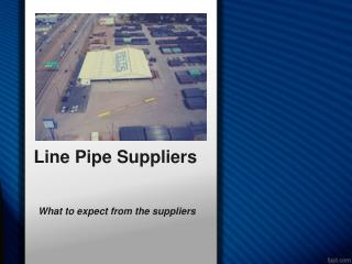 What to Expect from the Suppliers