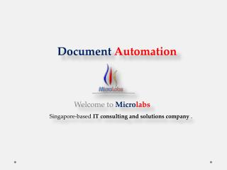 Document Automation With A Demo only At Microlabs