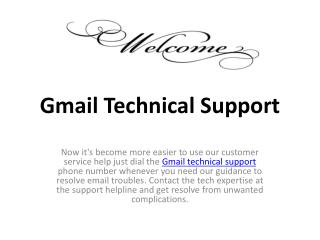 Gmail technical support