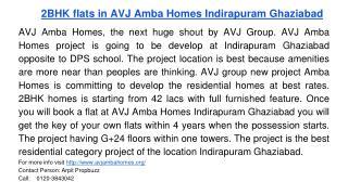 2BHK flats in AVJ Amba Homes Indirapuram Ghaziabad