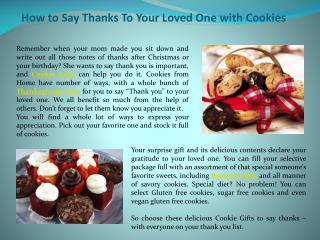 How to say thanks to your loved one with cookies