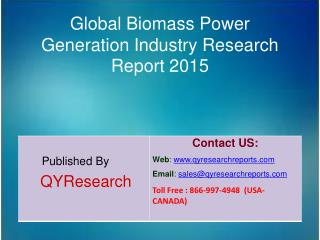 Global Biomass Power Generation Market 2015 Industry Growth, Overview, Analysis, Share and Trends