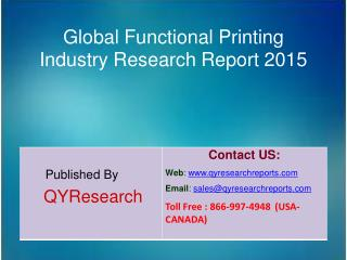Global Functional Printing Market 2015 Industry Size, Shares, Research, Insights, Growth, Analysis, Development, Study,